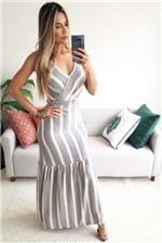 Vestido Longo Babadotop Trançado Wendy - Cinza