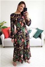Vestido Longo Cantão Est. Desejo - Preto