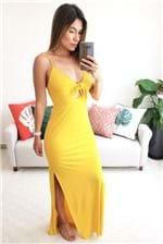 Vestido Longo Colcci com Fenda- Amarelo