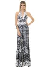 Vestido Longo de Malha Sublimação Leopard Mood 40