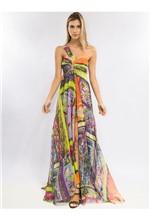 Vestido Longo de Tule Estampa Mix Ethnic Vestido Longo de Tule Estampa Mix Ethinic - 38