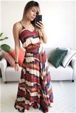 Vestido Longo Dress To Estampa Nazca - Multicolorido