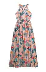 Vestido Longo Estampa Digital Malwee Rosa Claro - G
