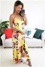 Vestido Longo Farm Lankai - Amarelo