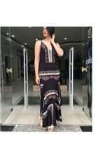 Vestido Longo Lenço Louise Farm - M