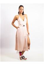 Vestido Longuete de Liocel com Cinto - 38