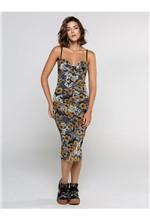 Vestido Longuete de Tule Estampa Flower Lace - 40