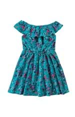Vestido Malha Trabalhada Menina Malwee Kids Turqueza - 6