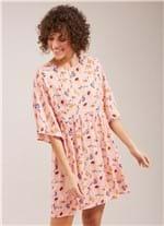 Vestido Mangao Padrao Fleur Daf Rosa M