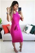 Vestido Midi Colcci com Cinto Sem Manga Fresia - Rosa