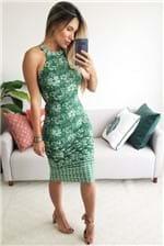 Vestido Midi Colcci Estampado Compose - Verde