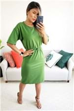 Vestido Midi Colcci Moletom com Elástico - Verde