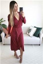 Vestido Midi Colcci Transpassado Rubiberry - Vinho