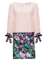 Vestido Mini de Seda Rosa Tamanho 40