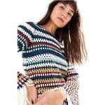 Vestido Ml Crochet Multicolorido - P