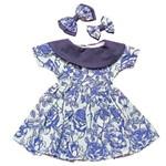 Vestido para Bonecas Laura Doll (azul)