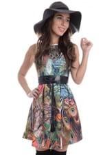 Vestido Pavão com Pregas VE1064 - P