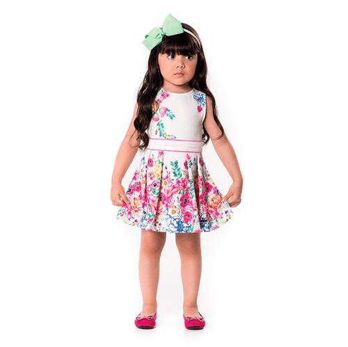 Vestido Primeiros Passos Cata-Vento Floral Pink 02