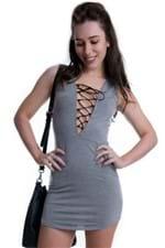 Vestido Regata com Decote Trançado VE1584 - M