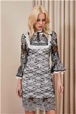Vestido Renda - Black And White 34