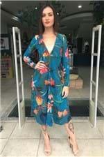 Vestido Rib Flor de Onça Farm - P