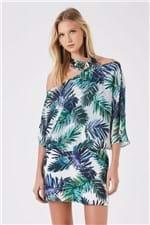 Vestido Seda Blusa Ampla Palmeira Exotic - 36