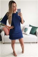 Vestido T-shirt Cantão Jeans Dress Stone - Azul