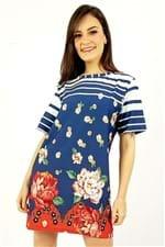 Vestido T-shirt Floral Pequim Farm - P