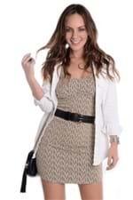 Vestido Tubinho de Alça com Lurex VE1187 - M