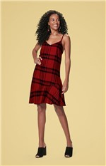 Vestido Xadrez Flanela Malwee Vermelho - P
