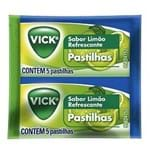 Vick Pastilhas Sabor Limão C/ 5