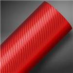 Vinil Tuning Fibra de Carbono Vermelho 1,38mtx25mts