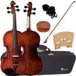 Violino Profissional 4/4 Envelhecido com Case Ve244 Eagle