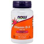 Vitamin D-3 400 UI (180 Softgels) - Now Sports