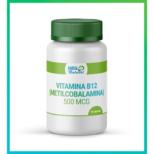 Vitamina B12 (metilcobalamina) 500 Mcg Cápsula Vegan 60cápsulas