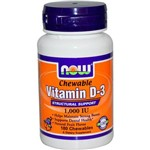 Vitamina D-3 1,000 Iu - Now Foods - 180 Chewables