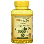 Vitamina D3 5000iu Puritan's Pride 200 Softgels
