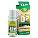 Vitamina D2 em Gota Ergocalciferol Sabor Menta Vegano (200ui por Gota) 20ml - Unilife