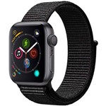 Watch Series 4 GPS 40mm Cinza Espacial Case With Preto Sport Loop - Apple