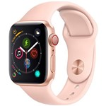 Watch Series 4 GPS+ Cellular 40mm Dourado Case With Rosa Sand Sport Band - Apple