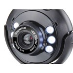 Webcam Plugeplay 16mp Nightvision Mic Usb Preto Ac045