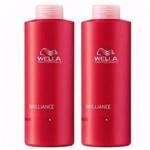 Wella Brilliance Kit Shampoo + Condicionador de 1 Litro