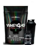 Whey 4hd - Refil - 2.2kg (morango) + Thermo Flame +coqueteleira