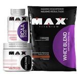 Whey Blend 2kg + Bcaa 100c + Creatina 150g Max Titanium