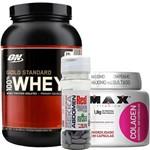 Whey Gold 100% Optimum Nutrition 907g + Sekka Abdomen 30 Tabs + Colagen 500 Max 100 Caps