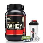 Whey Gold Standard 100% 907g Brigadeiro - Optimum Nutrition + Coqueteleira