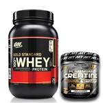 Whey Gold Standard 100% 907g Double Rich Chocolate - Optimum Nutrition + Creatina 400g Muscletech
