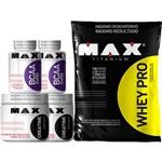 Whey Pro 1,5kg Refil + 2x Bcaa 100 Caps + 2x Creatina 150g Max Titanium