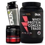 Whey Protein Concentrado 900g + Creatina Creapure - Dux
