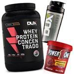 Whey Protein Concentrado 900g + Pasta Brigadeiro + Shaker